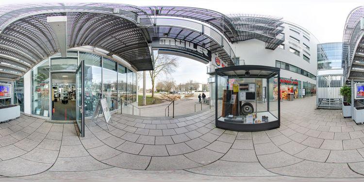 haupteingang hifi m ller gmbh freiburg 360 panorama. Black Bedroom Furniture Sets. Home Design Ideas